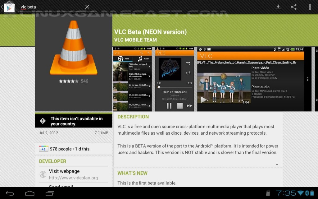 Watch TWiT Live On Android Without Flash – VLC (beta) – LinuxGameCast